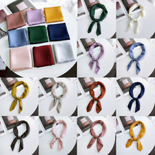 Women's 70cm Silk Scarf Fashion Square Scarves Soft Shawls Solid Color Bandana
