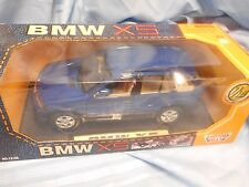 NIB BMW  X5 73105 MOTOR MAX DIE CAST METAL AND PLASTIC 1:18 SCALE DEEP BLUE