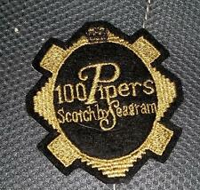 100 PIPERS SCOTCH Patch Embroidered Sample Odd Shaped