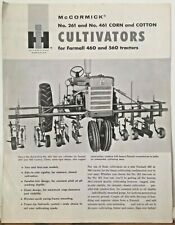 New ListingInternational Harvester McCormick 261 461 Corn & Cotton Cultivators Brochure
