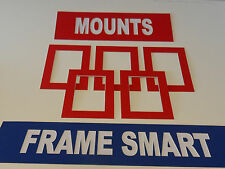 4 x RED PICTURE/PHOTO MOUNTS 16x12 for 12x8