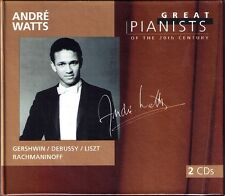 Andre WATTS: GREAT PIANISTS OF THE 20TH CENTURY 2CD Beethoven Gershwin Liszt