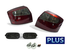COMBO Red/Smoke Tail+Side Marker Light + Chrome Bulbs For 02-05 Audi A4 S4 B6 4D