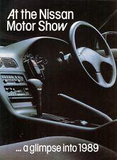 Nissan Prairie & 200SX 1988-89 UK Market Preview Foldout Sales Brochure