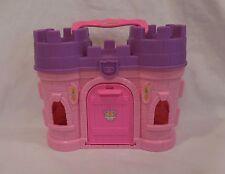 Fisher Price Little People Disney Princess castle pink purple carry along people
