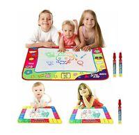 Water Painting Drawing Aqua Doodle Mat Writing Board Magic Pen Kids Toy UK