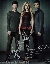 "The Vampire Diaries 8x10"" reprint Signed Photo RP 3 Stars"