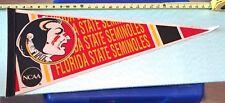 "VINTAGE FLORIDA STATE SEMINOLES PENNANT- 30"" LONG {CL29}"