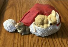Roman Inc Christmas Santa Hat with Mice Vintage 1996 Very Cute