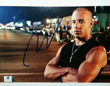 VIN DIESEL HAND SIGNED 8X10 PHOTO AUTHENTICATED BY GA