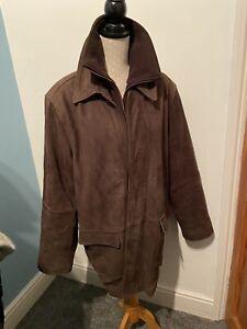 mens Winter coats jackets. Suede Leather Jacket. Medium /large. 90s Retro Style