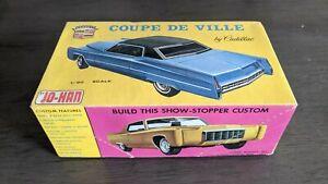 Rare Vintage Johan 1970 Cadillac Coupe DeVille 1/25 Scale Model Kit, Near Mint!