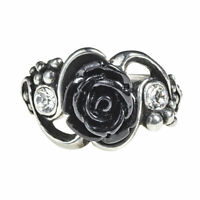 Alchemy of England Gothic Black Bacchanal Roses Punk Swarovski Crystal Ring R223