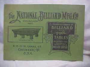 """"""" THE NATIONAL BILLARD MFG CO """" # 48, CATALOG"""