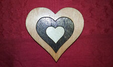 Heart refrigerator magnet Valentine's Day gift laser cut wood Made in USA med