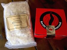 White Copal Resin Incense 1 lb + Swift Lite Charcoal Disks 33mm 8 Rolls