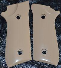 Taurus PT92,99,101 pistol grips smooth Tan color plastic decocker only