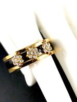 Joan Rivers Collection Honeycomb Chocolate Crystal Pave Ring Sz 5 6 7 8 New