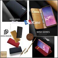 Etui Cuir Véritable coque Genuine Leather DUX DUCIS case Samsung Galaxy S10 S10+
