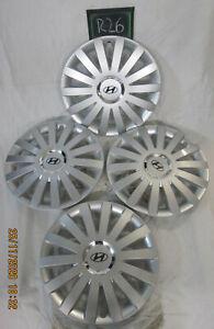 4 Radkappen Radzierblenden original Hyundai 15 Zoll Teile-nr.: 999XX0304