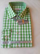 Trachten-hemd Freizeit-hemd Business Grün Weiß Almsach L Apfel Kariert Langarm