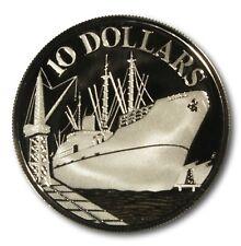 Singapore 1977  $10 Silver Proof Coin In Original Wooden Case w/ COA 10K