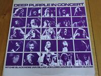 DEEP PURPLE IN CONCERT ORIGINAL DOUBLE LP RECORD VINYL - HARVEST LABEL 1980