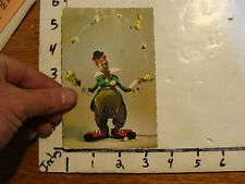 Vintage Puppet Marionette Postcard: CLOWN printed in Holland