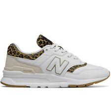 W New Balance White Leather Leopard CW 997 HCJ Womens Running Shoes Sneakers