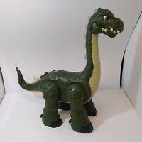 """Imaginext Dinosaur Large 14"""" Walking Roaring Green Mattel Working 2013"""
