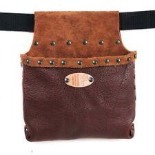 Hobby Big-Bolsa De Herramientas En Cuero Genuino, color marrón, remaches pulidos, Cinturón en