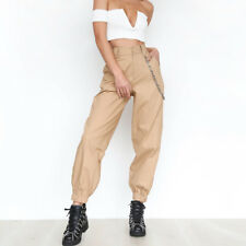 US Women Cargo Trousers Casual Hip Hop Dance Pants Military Combat Camo Fashion