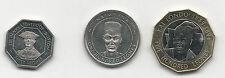 SIERRA LEONE -  BIMETAL 500 and 100, 50 LEONES UNC COIN 1996 2004  KM 45,46, 296