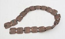 "Egyptian Belt Bracelet Parts Repurpose (E5L) Sphynx Pyramid Copper 28"""