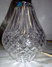 "BEAUTIFUL Vintage WATERFORD CRYSTAL ""Portable"" LAMP 13"""