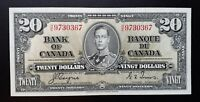 1937 Bank of Canada $20 Changeover Coyne & Towers Signature H/E9730367 BC-25c