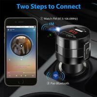 Drahtloser Bluetooth 5.0 FM Transmitter Auto USB MP3 Player Ladegerät Freisprech