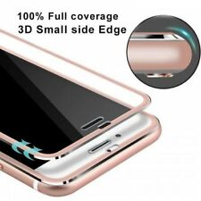 Tempered Glass Screen Protector Film 3D Curved  Edge For iPhone 8 Plus Rose Gold