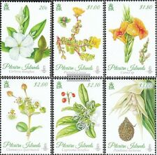 Pitcairn 907-912 mint never hinged mnh 2014 Flowers