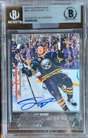 2015 2016 UPPER DECK Jack Eichel AUTO BGS YOUNG GUNS RC ROOKIE LEAF BUYBACKS DNA
