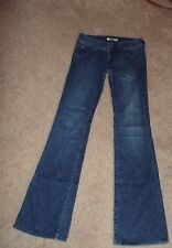 HUDSON JEANS WOMEN'S SIZE 26 BOOT CUT LOW RISE FLAP POCKET MED WASH DISTRESSED