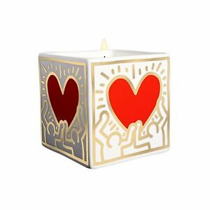 "Keith Haring ""RED HEART WITH GOLD"" Candle"