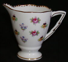 Royal Stafford England Porcelain Creamer-Rose Pansy Forget Me Not