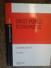 Droit public économique / Jean-paul Valette