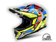 Casco da Motocross Bambino Airoh Archer - Nuovo - Colore Chief Blue - Taglia XS