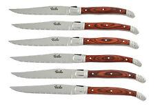 Fissler Steakmesserset 6 tlg Steakmesser Steakset Griffe Pakkaholz 1A Neuware