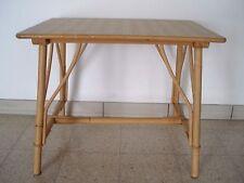 table basse  en bambou rotin: 56 X 41 cm VINTAGE