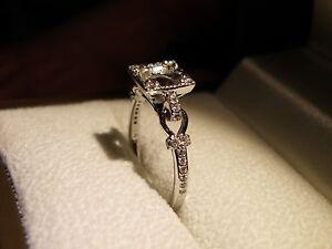 14K Gold Diamond Deco Style Semi Mount Setting Engagement Wedding Ring