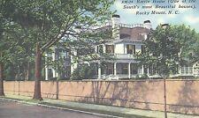Battle Home  Rocky Mount  NC  Unused Mint Linen Postcard 10144
