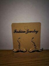 Black Mustache Charm Dangle Earrings - Free Shipping in US - E